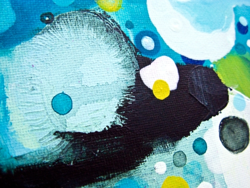 Detail from: THE HEART OF THE MELT❘Acrylic on canvas❘12″ x 12″
