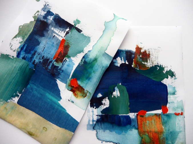Abstract Sketches by Kim Duhaime, acrylic on canvas