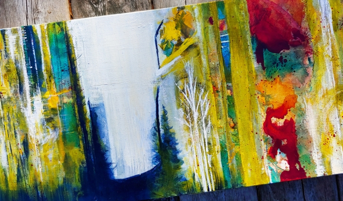A Walk In The Woods, Painting and Inspiration