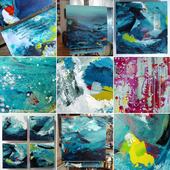 Kim Duhaime • Contemporary Abstract Expressionist Painting #bestnine2018